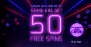 betfred casino welcome bonus