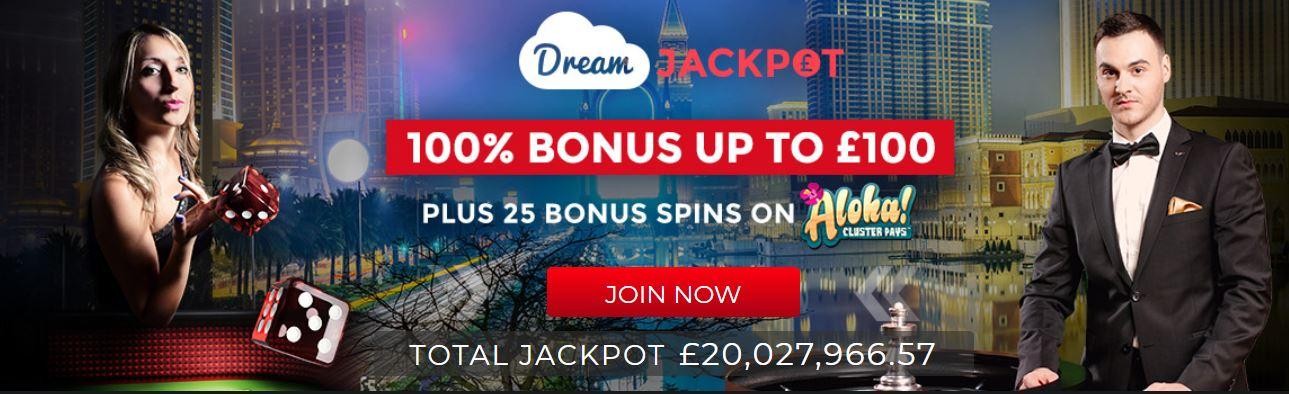 dream jackpot welcome bonus
