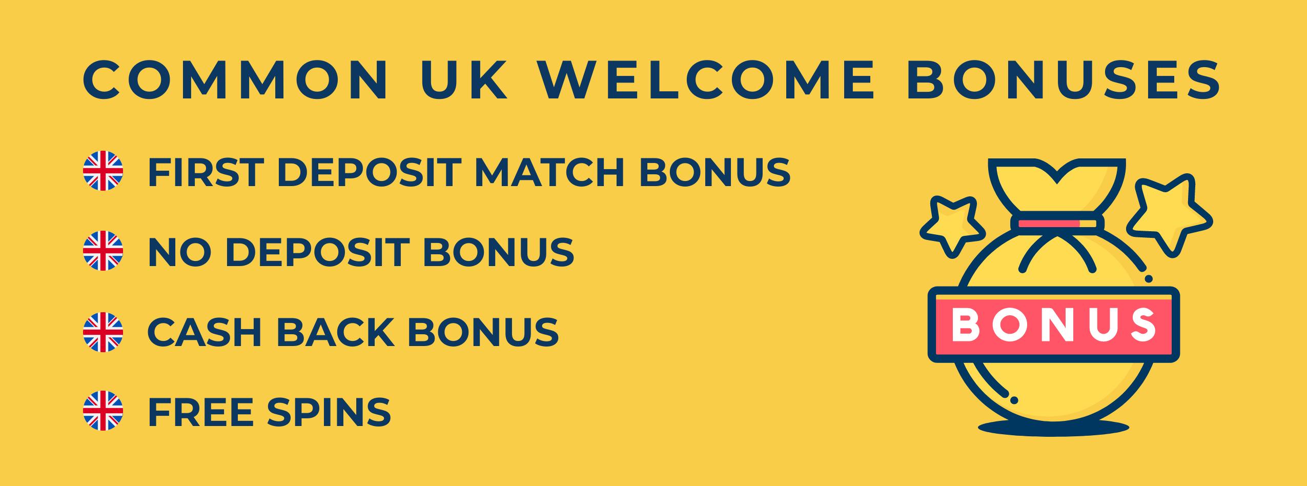 casino welcome bonuses uk