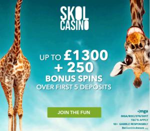 skol casino uk welcome bonus