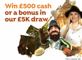 Win £500 in Cash or Casino Bonuses at Spin and Win